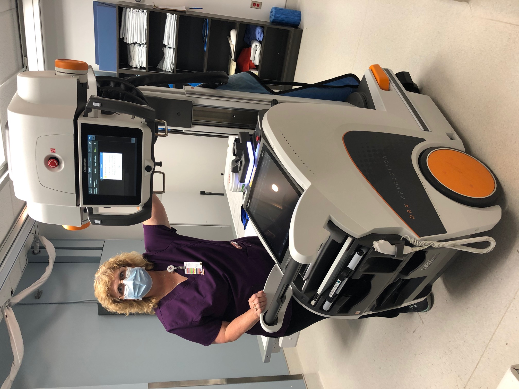 Renee with Digital Radiography Unit